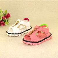 W72064G 2016 new fashion baby shoes for kids soft sole leather baby sandals