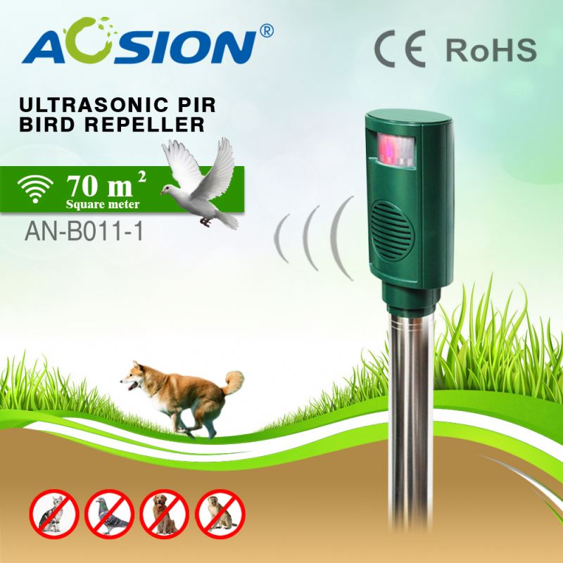 Aosion Infrared Remote Detect Energy Saving High Efficiency garden passive infrared ultrasonic monkey repeller