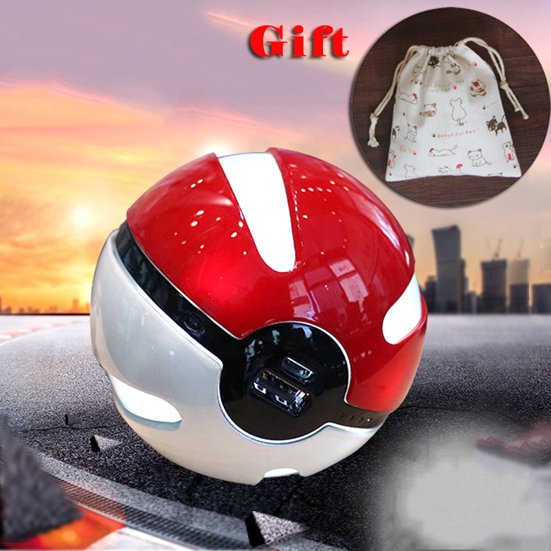 External Battery Charger Powerbank Pokemon Go Pokeball Power Bank 10000mAh Cute Poke Ball for iPhone for Samsung for Huawei
