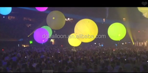 Hot sale giant helium PVC larger balloon with RGB LED light for partydecoration