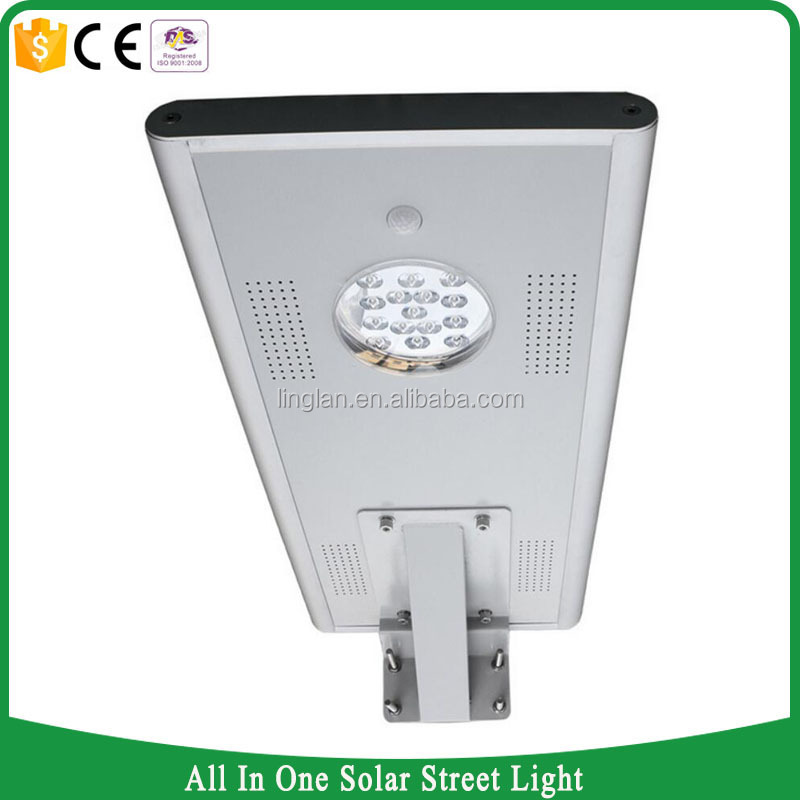 15w outdoor waterproof ip65 all in one induction solar led street lamp