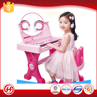 Specialty musical instrument battery operated plastic piano with desk toy electronic