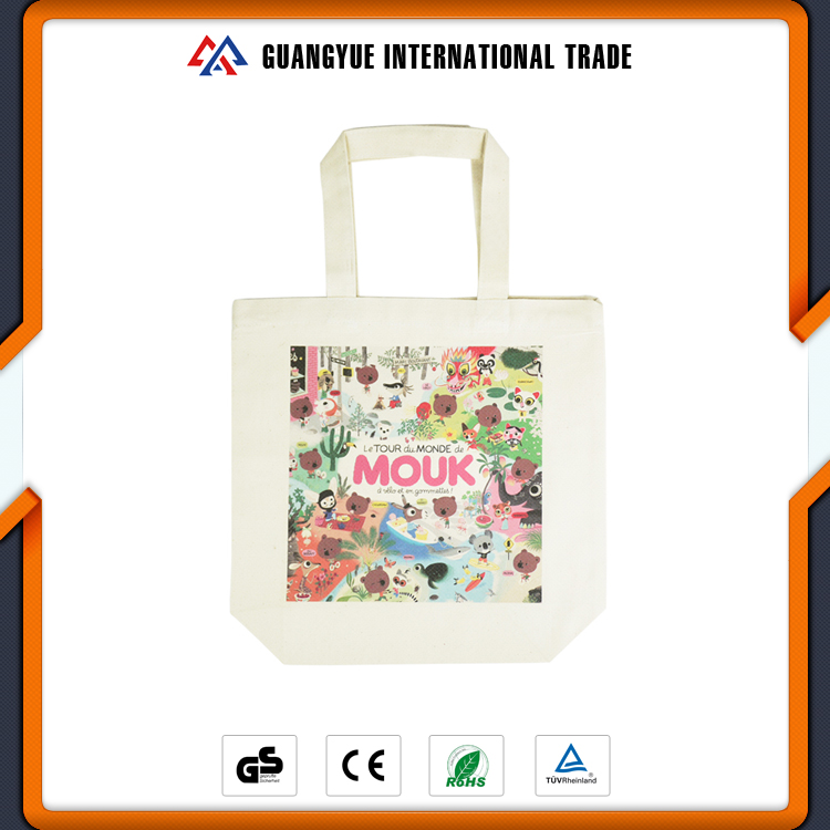 Guangyue Wholesale Products Durable Long Handle Custom Printed Ladies Cotton Shoulder Bag