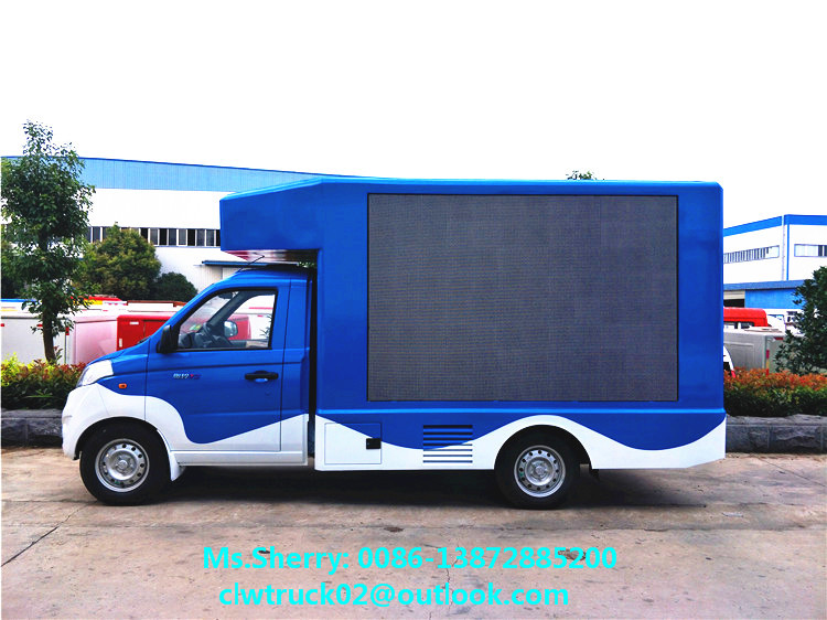2017 brand new Karry mobile led scrolling screen truck at low price