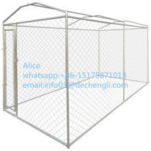 Heavy-duty Outdoor Dog Kennel with Canopy Top