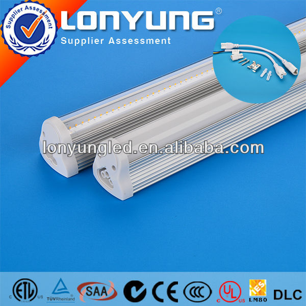 led driver listed ul or etl t8 integrative tube light IP65 TUV SAA ETL Approved 3years warranty
