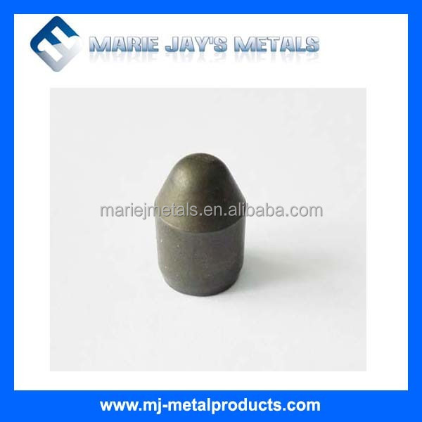 Tungsten carbide button bits for earth boring, water well drilling, mining
