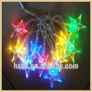 3AA Battery operated colorful party decorative led Acryllic Star Christmas string light