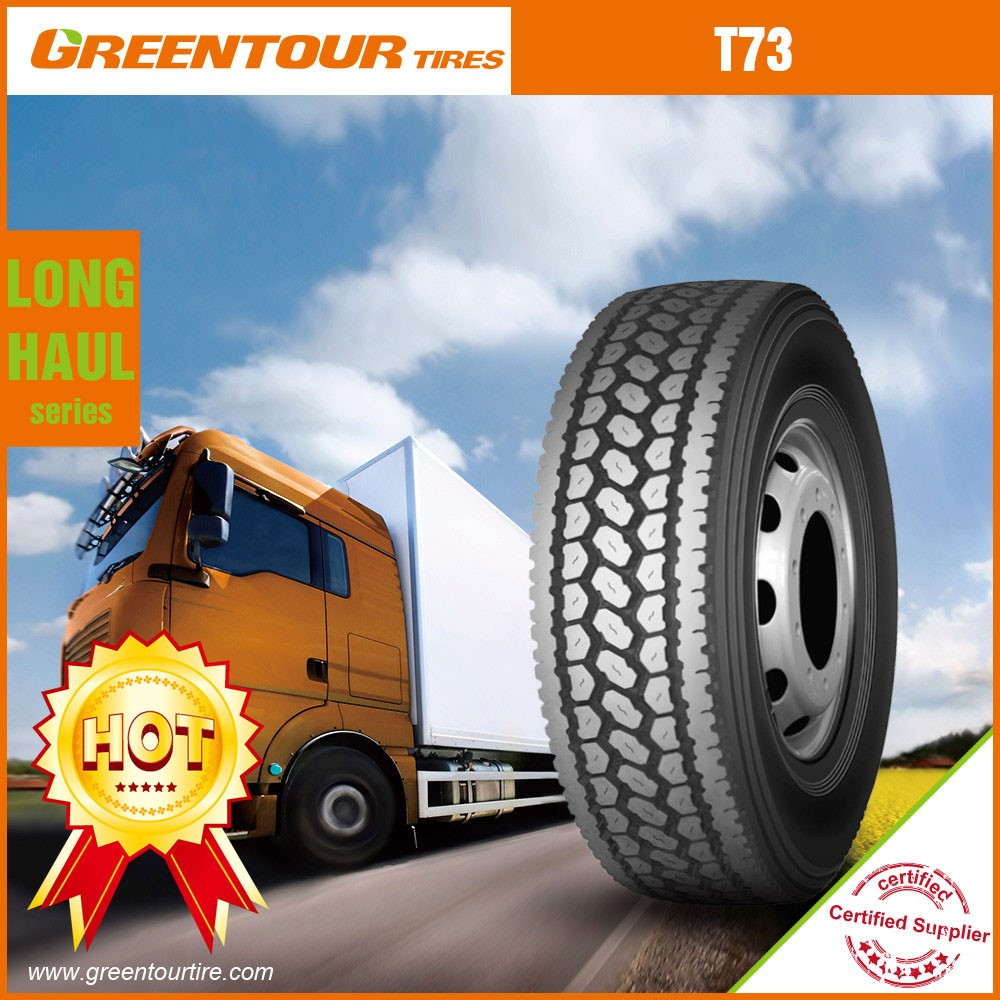 Chinese hot selling T73 driving pattern tubeless 11r24.5 all steel radial tyre