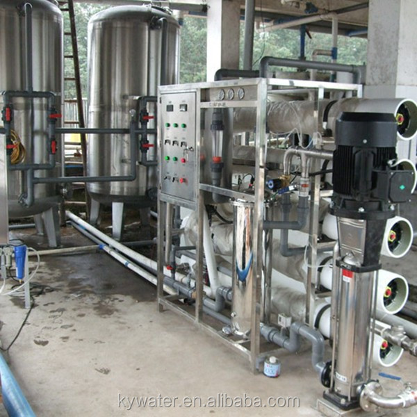water treatment system 10T/h drinking water analysis with ro membrane making machine