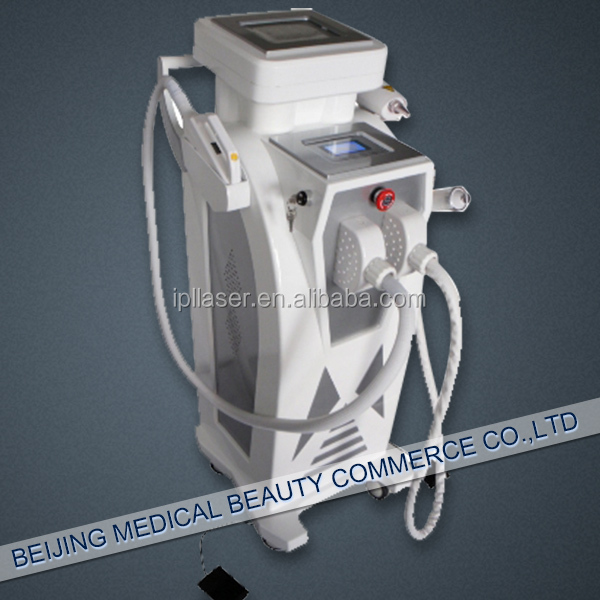 E light(IPL & RF)+RF+Q switch ND Yag laser 4 in 1 hair& tattoo removal beauty machine