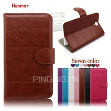 Hot selling Cross Grain Lady Wallet Style Leather Cover Case for Umi Hammer