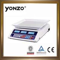 YZ-963 salable 40kg LED or LCD dual side display electronic digital weighing mill scale