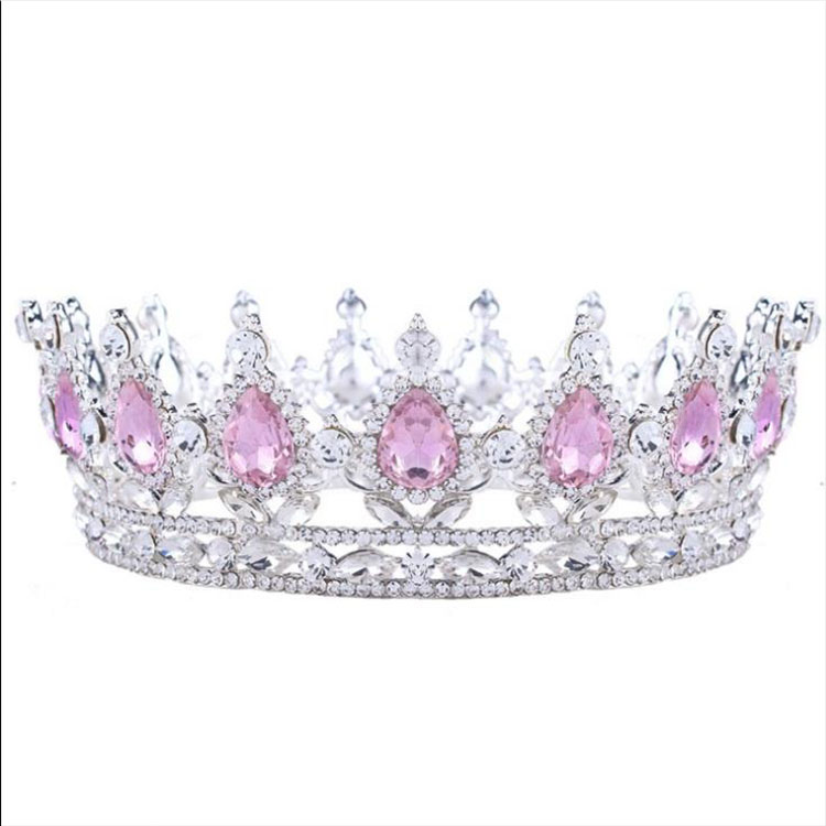Factory wholesale tiara wedding big pageant <strong>crowns</strong> for Women jewelry inlay crystal Exquisite wedding dress elegant <strong>crown</strong>