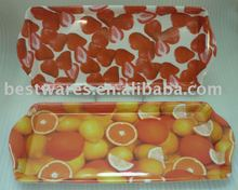 Factory supply recycled handle living room melamine fruit service tray