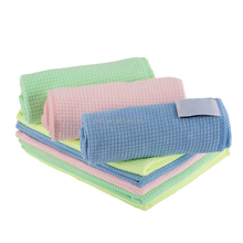 80%Polyester+20%Polyamdie Small Grid Microfiber Household Cleaning Cloth