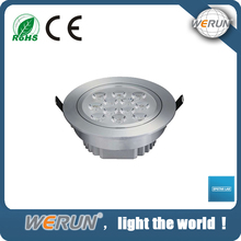 High lumen CE RoHS ISO approved circular light led recessed lamp led downlight with 60mm cut out