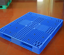 Single face anti-slip rubber inserted grid logistics plastic pallet