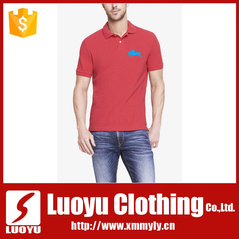 Wholesale 100% cotton embroidered logo men custom polo t shirt