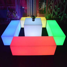 Like plastic stone benches prices with rgb led light for bright
