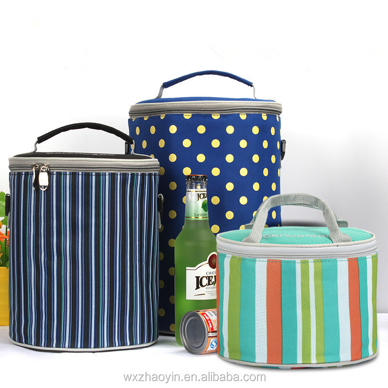 Manufacturer Durable And Reusable Round Insulated Lunch Cooler Bag