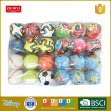 kids outdoor play toy ball colored stress ball 12 cm safety soft play PU foam ball