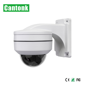 Cantonk 5mp metal and plastic housing mini ptz dome ip camera