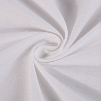 China fabric market wholesale 80 polyester 20 cotton white plain fabric for men and women fashion dress and casual shirt