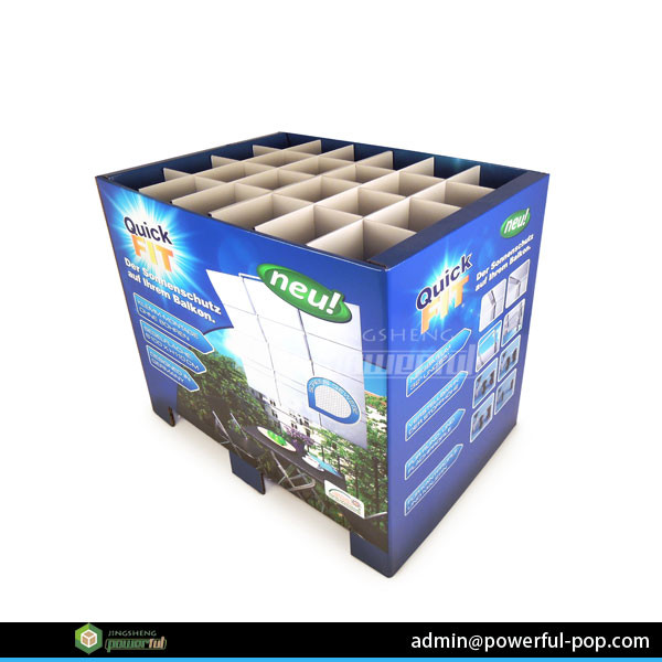 New Designed Corrugated Cardboard Pallet Display Stand for Egg