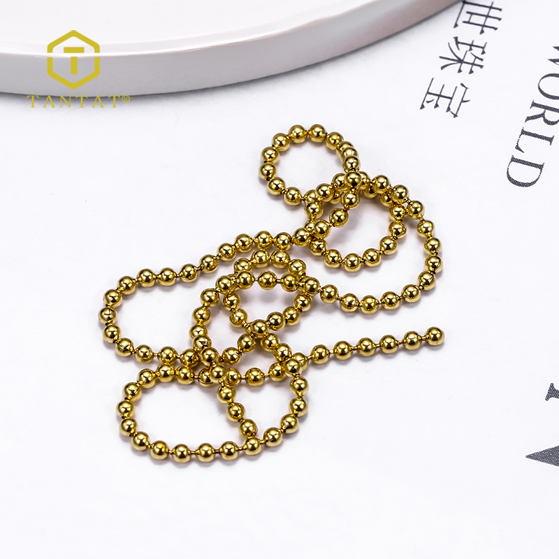 Factory Supply Jewelry Necklace Chain Metal Bead Ball Chain For Sale