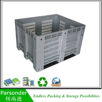 Plastic Nestable Box Ventilated Stackable Plastic Crate