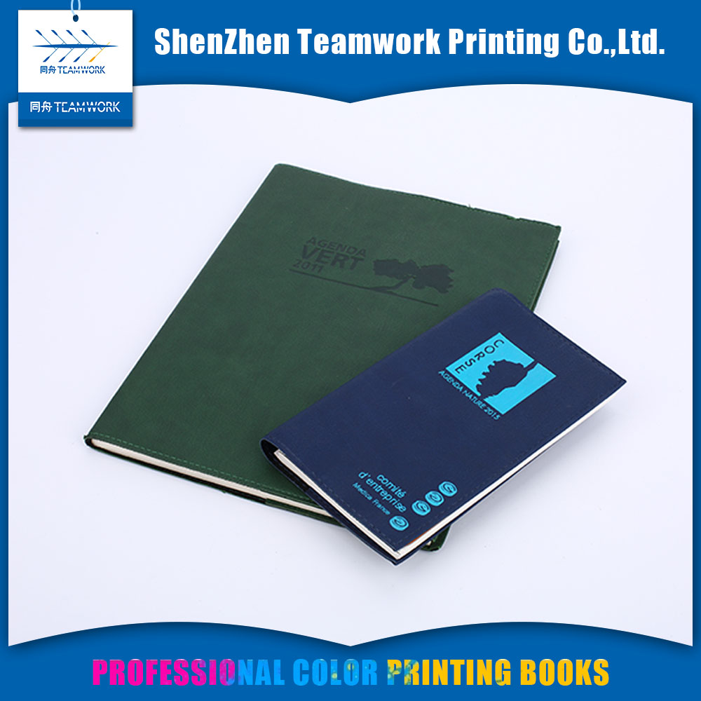 custom high quality Fancy paper perfect bound writing book printing service