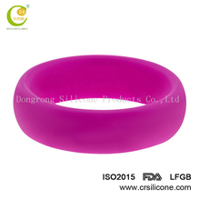 2017 Comfortable Silicone Mixed Colored Rainbow Rubber Finger Rings