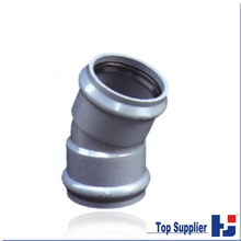 A02 HJ manufacturer PVC pipe fitting two faucet connecting 22.5 degree elbow