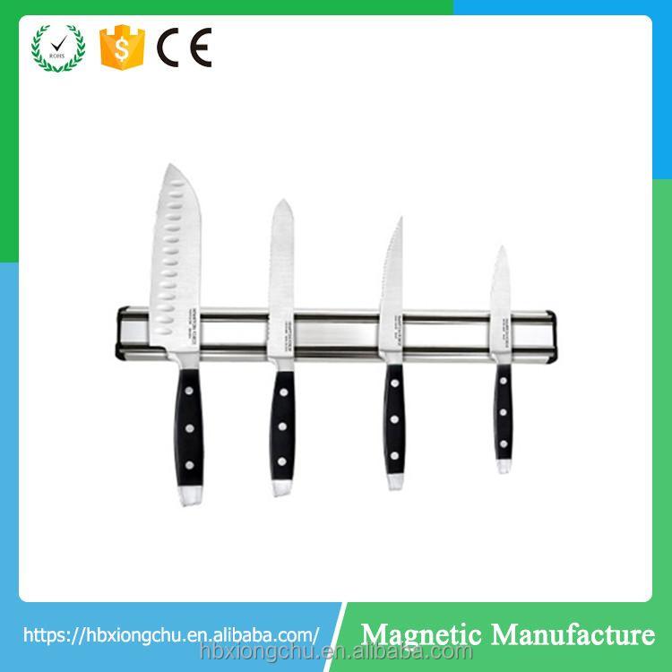 n35-n52 wall mounted kitchen utensils/tools super strong neodymium stainless steel magnetic knife holder with bar shape