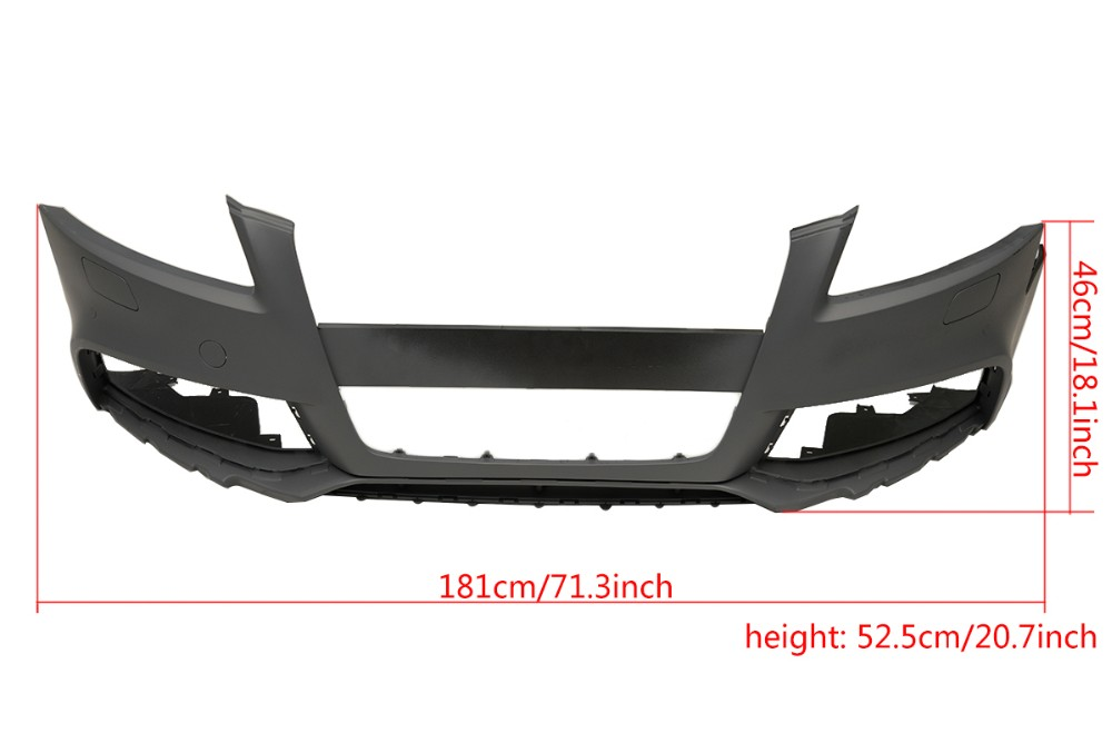 S6 Style Rear Diffuser with exhaust muffler for Audi A6 2016 (FIT: A6 Sedan base 4dr bumper only)