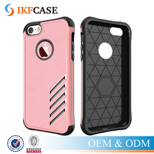 China Supplier 2 in 1 TPU PC Hybrid Heavy Dual Layer Mobile Phone Accessory Case For iPhone 5 5S SE 6S
