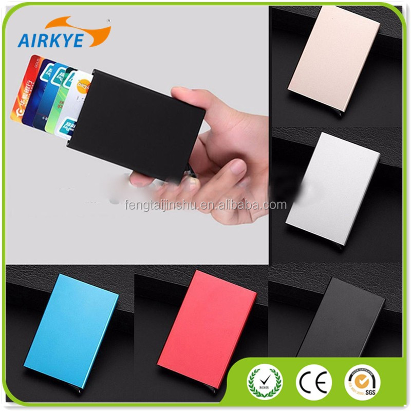 Aluminum RFID Credit Card Protector Case Slim Thin Card Holder Men Wallets