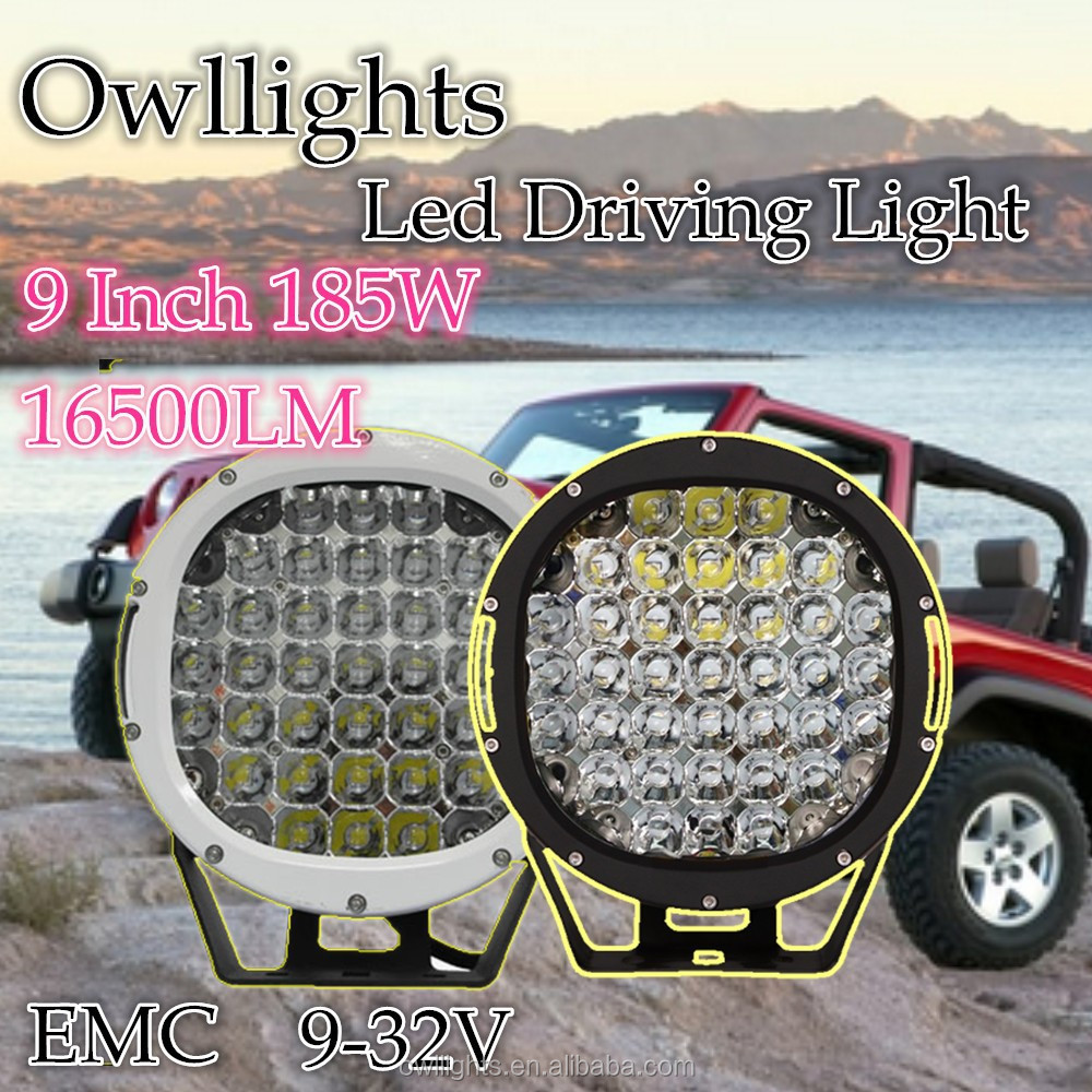 auto led work lights,185w led working light offroad driving lamp waterpoof 9-32V, 9inch led driving lamp