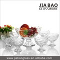 7pcs Clear Glass Footed Bowl set