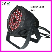 par light rgbw waterproof par light 18x10w rgbawv 6-in-1 led par light