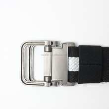 latest design canvas woven belt with alloy buckle