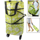 Portable Shopping Cart Tote Bag with Wheel / Folding Single-shoulder Shopping Bag Handbag
