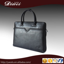 Guangzhou Manufacturer Genuine Leather Messenger Trolley Laptop Bag For Business Men