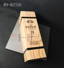wholesale customized wood product 3 bottle wooden wine box