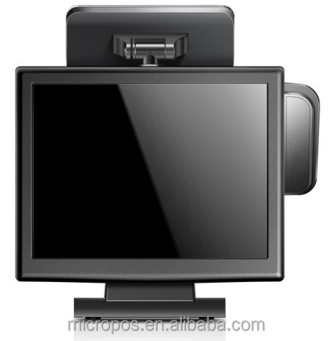 15 inch all in one touch screen POS system,pos terminal for retail,food service