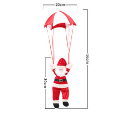 Santa Claus & Snowman Christmas Ornaments Parachute Christmas Tree Decoration Plush Parachute Toy