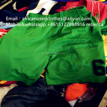 2017 year stylish used clothing / african clothing / african sport short pants, exported baled used clothes
