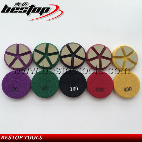Top Quality 3 inch Ceramic Bond Polishing Pad For Concrete Floor