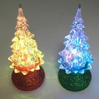 Multi-color Led Lighted Mini Acrylic Ornament Display Tree
